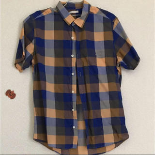 GU - 半袖シャツ メンズ チェックシャツ  GU