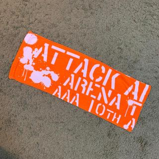 トリプルエー(AAA)のAAA 10th anniversary タオル オレンジ(タオル)