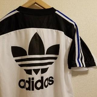 アディダス(adidas)の希少 90s デサント製 ヴィンテージ adidas トレフォイル ゲームシャツ(Tシャツ/カットソー(半袖/袖なし))