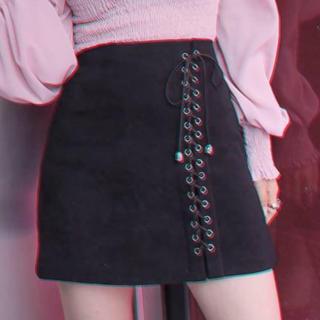 Bubbles - *スウェードレースアップスカート(pink)