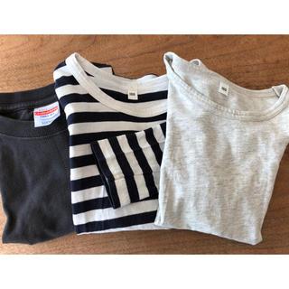 ムジルシリョウヒン(MUJI (無印良品))の子供服 シンプル 100 3枚セット 夏服 Tシャツ 無印 半袖 長袖 MUJI(Tシャツ/カットソー)