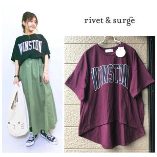 リベットアンドサージ(rivet & surge)の 新品♡rivet & surge♡WINSTONプリントワイドTシャツ(Tシャツ(半袖/袖なし))