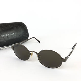 エンポリオアルマーニ(Emporio Armani)の正規品 エンポリオアルマーニ ガンメタ ブラック 丸型 サングラス JR4-42(サングラス/メガネ)