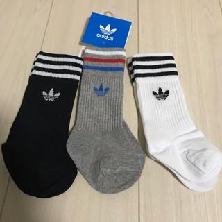 アディダス(adidas)のadidas アディダス ベイビー ソックス 3枚組  (靴下/タイツ)
