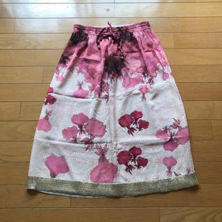 アッシュペーフランス(H.P.FRANCE)のミリアムオカリス 花柄スカート(ロングスカート)