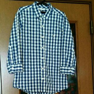 ジーユー(GU)のGUメンズ7分丈袖カジュアルシャツ(Tシャツ(長袖/七分))