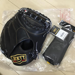 ZETT - 新品未使用! ZETT 一般軟式 キャッチャーミット 中村モデル 黒 専用袋付き