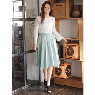 スタイルデリ(STYLE DELI)のSTYLE DELI キレイ色イレヘムギャザーフレアスカート(ひざ丈スカート)