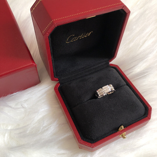 カルティエ(Cartier)の極美品☆カルティエ タンク ダイヤリング フランセーズ 7号(リング(指輪))