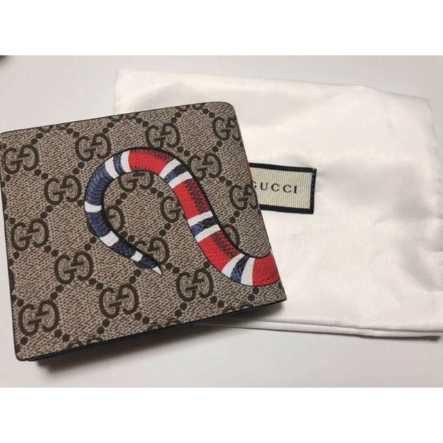 the best attitude 3c886 12acc GUCCI グッチ 財布 二つ折り 蛇