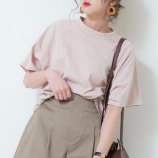 シマムラ(しまむら)のプチプラのあや×しまむら ラグランTシャツ Mサイズ(Tシャツ(半袖/袖なし))
