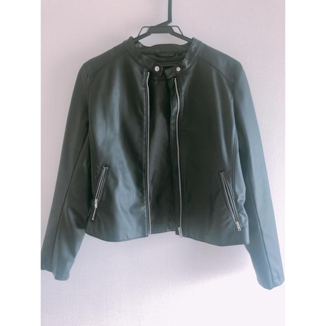 UNIQLO(ユニクロ)のUNIQLO ライダースジャケット レディースのジャケット/アウター(ライダースジャケット)の商品写真
