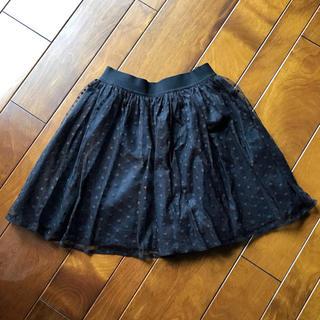 ジーユー(GU)のGU  ミニスカート(キュロット)  140cm  黒(スカート)