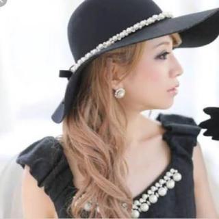 エミリアウィズ(EmiriaWiz)のエミリアヴィズ クラシカルパール女優帽(ハット)