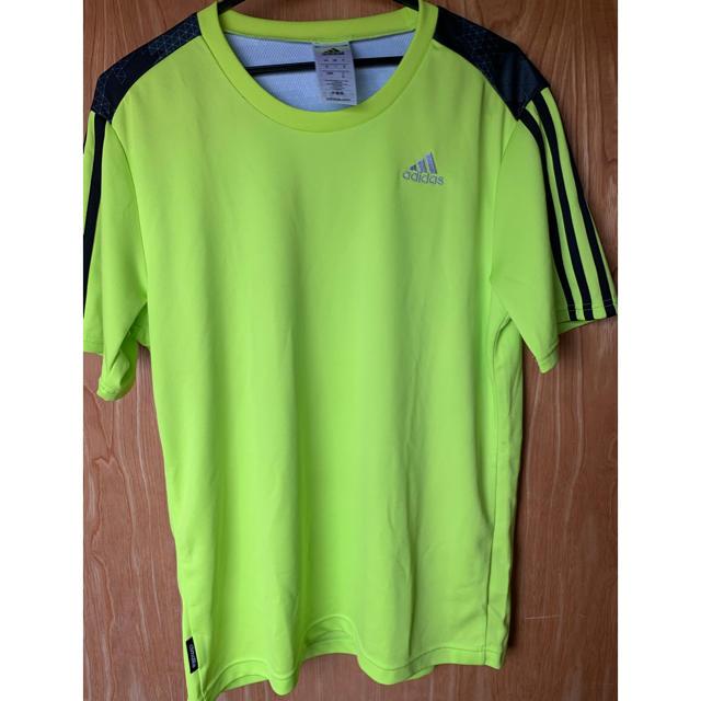 adidas(アディダス)のadidas  Tシャツ  ネオンイエロー メンズのトップス(Tシャツ/カットソー(七分/長袖))の商品写真