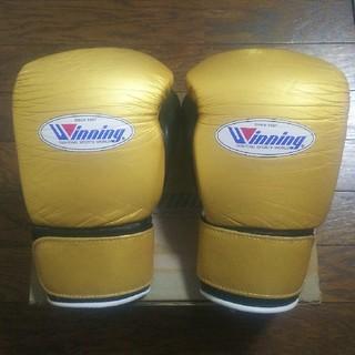 Winning ウイニング ボクシング グローブ マジックテープ  8oz 金黒