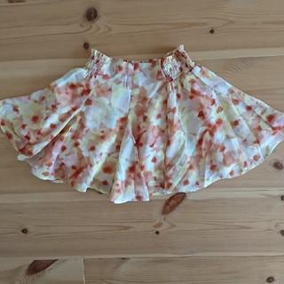 女児花柄スカート