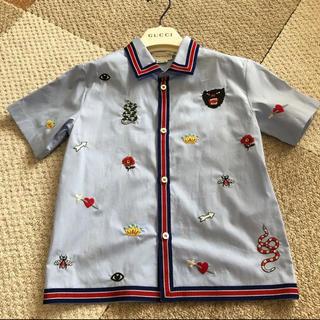 グッチ(Gucci)の大人気❗️ グッチ チルドレン  シンボルズ ボーリングシャツ サイズ6(ブラウス)