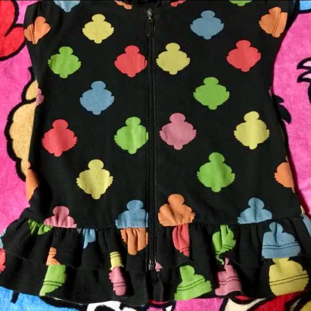 HYSTERIC MINI(ヒステリックミニ)の  ヒステリックミニ 80cm 重ね着 シークレット フード付き ワンピース キッズ/ベビー/マタニティのベビー服(~85cm)(ワンピース)の商品写真