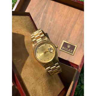 ロレックス(ROLEX)のロレックス デイデイト 118238A K18YG無垢 ダイヤインデックス(腕時計(アナログ))