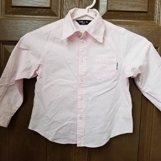 コムサイズム(COMME CA ISM)のコムサイズム ピンク ワイシャツ  シャツ 100(ブラウス)