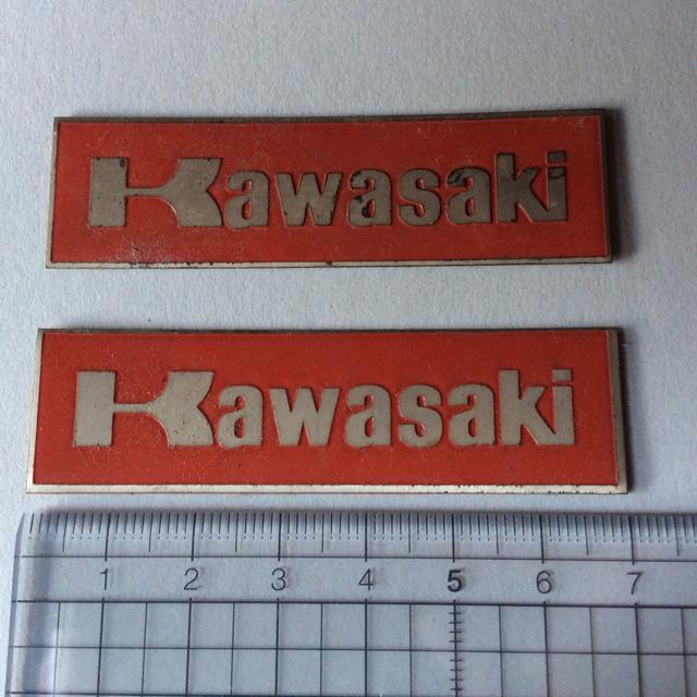 カワサキ(カワサキ)のカワサキ ステッカー2枚 自動車/バイクのバイク(ステッカー)の商品写真