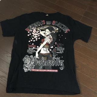 シマムラ(しまむら)のTシャツ 和風花柄 しまむら 大きいサイズ(Tシャツ/カットソー(半袖/袖なし))