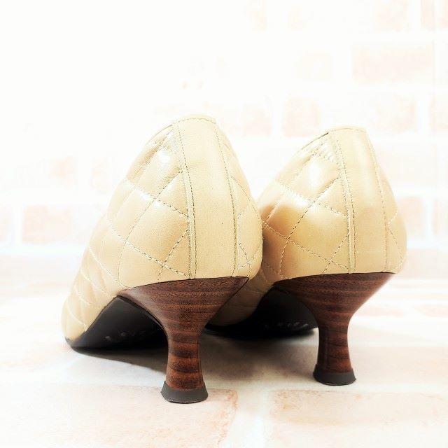 銀座ワシントン(ギンザワシントン)のワシントン ☆ キルティングデザイン パンプス 21.5 日本製 レディースの靴/シューズ(ハイヒール/パンプス)の商品写真