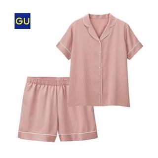ジーユー(GU)の最終値下※GU サテンパジャマ ピンク(パジャマ)