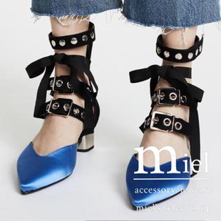 トーガ(TOGA)のbelt ribbon pumps🦋/import shoes(ハイヒール/パンプス)
