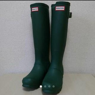 ハンター(HUNTER)のHUNTER レインブーツ  size UK 3 22㎝ グリーン ハンター(レインブーツ/長靴)