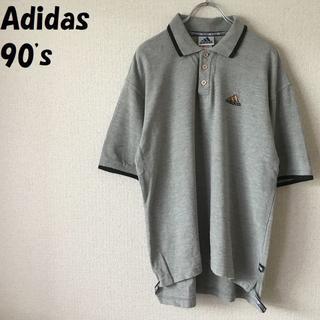 アディダス(adidas)の【90's】アディダス ワンポイントロゴポロシャツ サイズL オレンジロゴ(ポロシャツ)