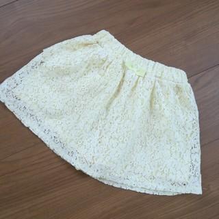 ジーユー(GU)の110cm☆レーススカート☆キュロット☆女のコ☆ボトム(スカート)