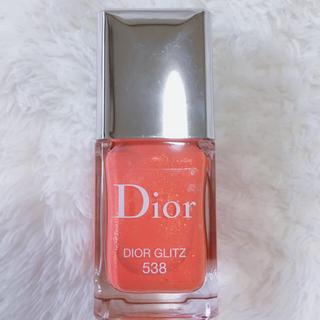 クリスチャンディオール(Christian Dior)のディオールグリッツネイルカラーエナメル538限定新品Diorlife袋付(カラージェル)