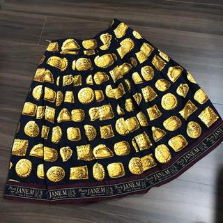 ジェーンマープル(JaneMarple)のジェーンマープル ハブアビスケットトロンプロイユドレスカート(ひざ丈スカート)