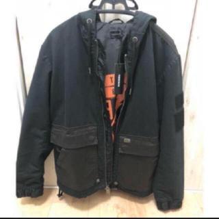 ディーゼル(DIESEL)のDIESEL ミックスジャケット 定価35000円 新品(ナイロンジャケット)