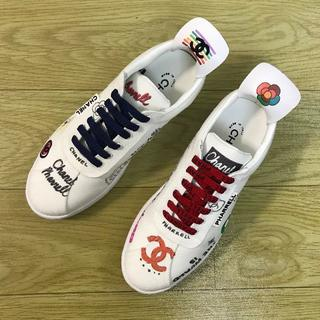 シャネル(CHANEL)のCHANEL シャネル 靴/シューズ スニーカー パンプス  サイズ42(スニーカー)