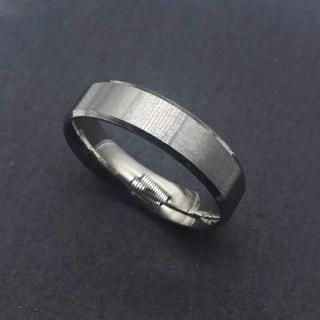 メタルシルバーリング 6mm幅 単品(リング(指輪))