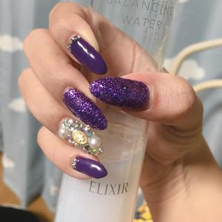 ネイルチップ 紫