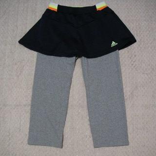 adidas - 【新品・値下げ】アディダス★スコート・パンツ(紺×グレー)★100センチ