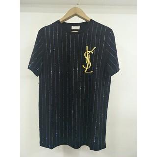 ステラマッカートニー(Stella McCartney)の新品STELLA MCCARTNEY ブラック Tシャツ メンズ M ピカピカ(Tシャツ/カットソー(半袖/袖なし))
