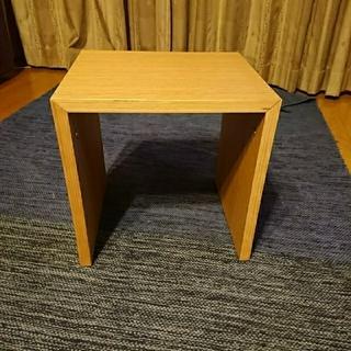 ムジルシリョウヒン(MUJI (無印良品))の無印良品 コの字の家具 オーク材 幅35cm(ローテーブル)