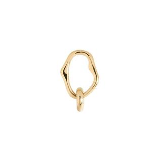 アッシュペーフランス(H.P.FRANCE)のMARIA BLACK マリアブラック ミッドナイトピアス 片耳用 ゴールド(ピアス)