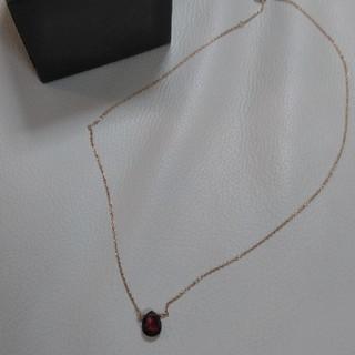 ココシュニック(COCOSHNIK)のココシュニック 一粒ガーネットネックレス(ネックレス)