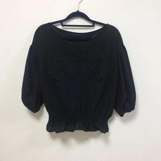 ジーユー(GU)のGU 裾しぼり五分袖ブラウス 新品タグ付(シャツ/ブラウス(半袖/袖なし))