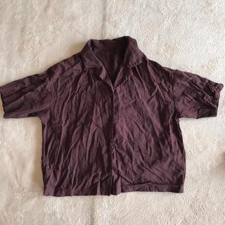 ジーユー(GU)のリネンシャツ (シャツ/ブラウス(半袖/袖なし))