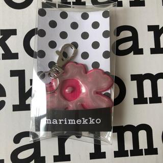 マリメッコ(marimekko)のマリメッコ  ウニッコ  リフレクター キーホルダー ピンク(キーホルダー)