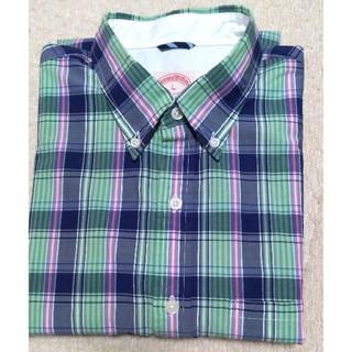 ブルックスブラザース(Brooks Brothers)の美品 ブルックスブラザーズ チェックシャツ 長袖 L(シャツ)