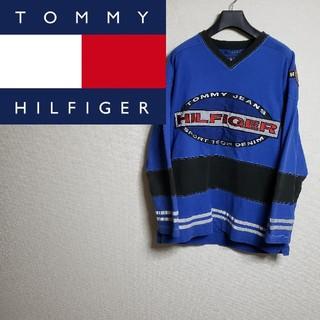 トミーヒルフィガー(TOMMY HILFIGER)のトミーヒルフィガー 90s ビッグロゴ スウェット スポーツ(スウェット)