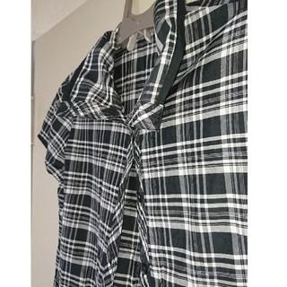 アクシス ロングシャツ チュニック モノクロ(シャツ/ブラウス(半袖/袖なし))